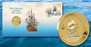 2016 Stamp and Coin Cover Celebrates Hartog's Landing in Australia
