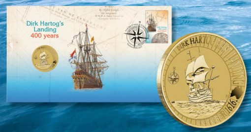 Dirk Hartog Australian Landing 1616-2016 Stamp and Coin Cover