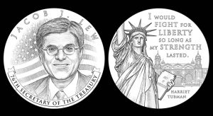 U.S. Treasury Secretary Jacob Lew Medal Designs Recommended