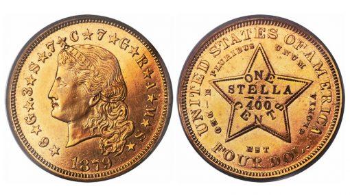1879 $4 Flowing Hair