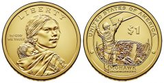 2015 Native American $1 Dollar Coin