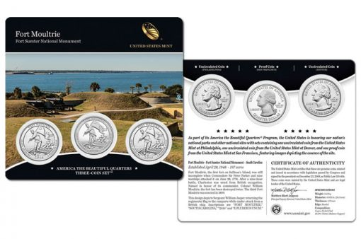 2016 Fort Moultrie Quarters Three-Coin Set