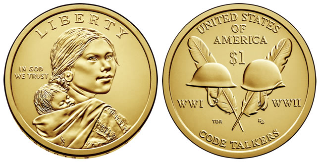~HEAD// TAILS~ 2015 D BU SACAGAWEA NATIVE AMERICAN GOLD $25 DOLLAR ROLL ~L@@K~