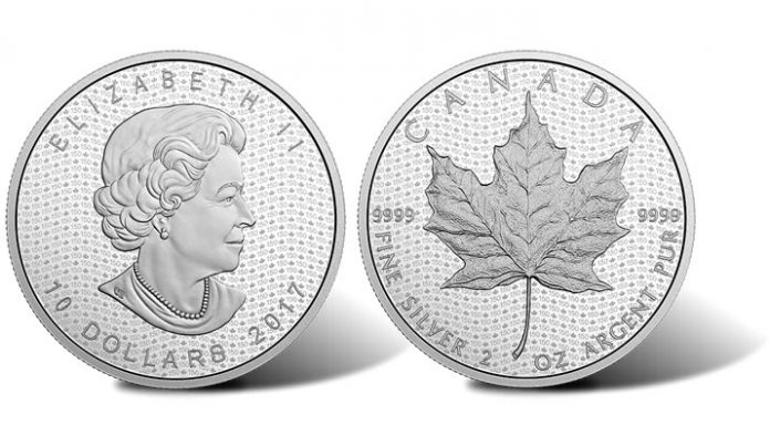 2017 Canada 150 Iconic Maple Leaf 2 oz. Silver Coin