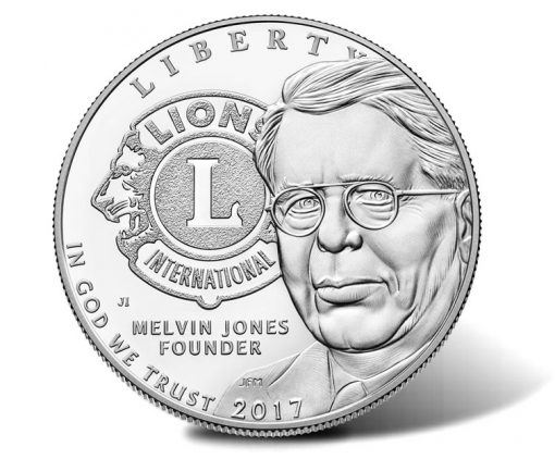 2017-P Proof Lions Clubs International Centennial Silver Dollar, Obverse