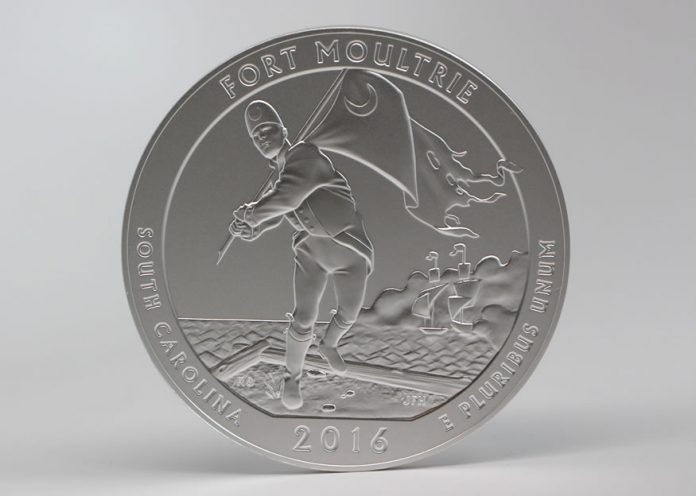 Photo of 2016-P Fort Moultrie Five Ounce Silver Uncirculated Coin