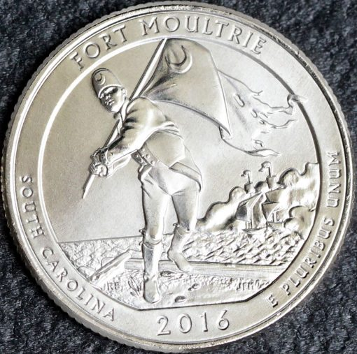 Photo of a 2016 Fort Moultrie Quarter