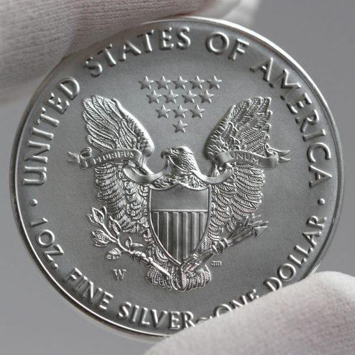 Reverse 2016-W 30th Anniversary Uncirculated American Silver Eagle