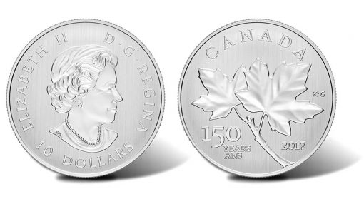 2017 $10 Canada Maple Leaves 1-2 oz. Silver Coin