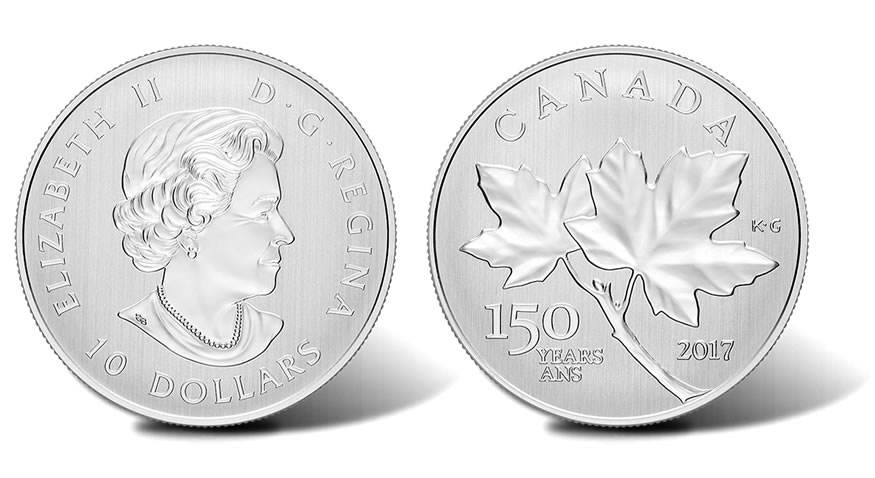 2017 Maple Leaves Silver Coin Marks Canada S 150th