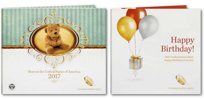 2017 Birth Set and 2017 Happy Birthday Coin Set