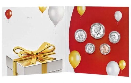 2017 Happy Birthday Coin Set, opened