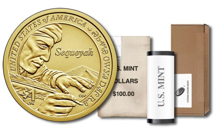 2017 Native American $1 Coin - Roll, Bag and Box