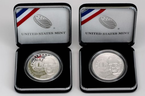 2017-P Lions Clubs International Centennial Silver Dollars - Proof and Uncirculated