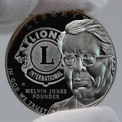 2017-P Proof Lions Clubs International Centennial Silver Dollar Obverse Photo,b