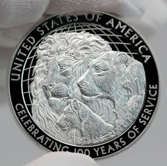 2017-P Proof Lions Clubs International Centennial Silver Dollar Reverse Photo