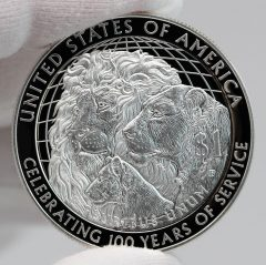 2017-P Proof Lions Clubs International Centennial Silver Dollar Reverse Photo,a