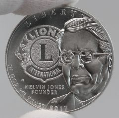 2017-P Uncirculated Lions Clubs International Centennial Silver Dollar Obverse Photo,a