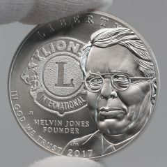 2017-P Uncirculated Lions Clubs International Centennial Silver Dollar Obverse Photo,b
