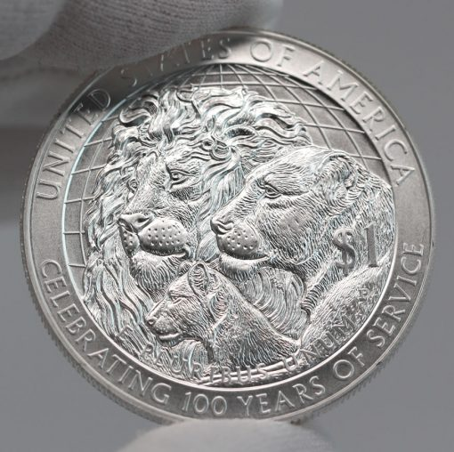2017-P Uncirculated Lions Clubs International Centennial Silver Dollar Reverse Photo