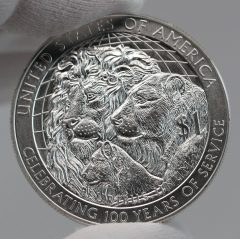 2017-P Uncirculated Lions Clubs International Centennial Silver Dollar Reverse Photo,a
