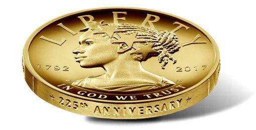 2017-W $100 American Liberty 225th Anniversary Gold Coin, Edge