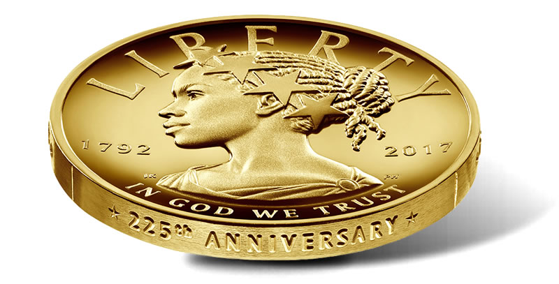 US Mint Releasing Commemorative Gold Coin Depicting Lady Liberty As Black