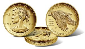 2017 American Liberty 225th Anniversary Gold Coin Pricing Schedule