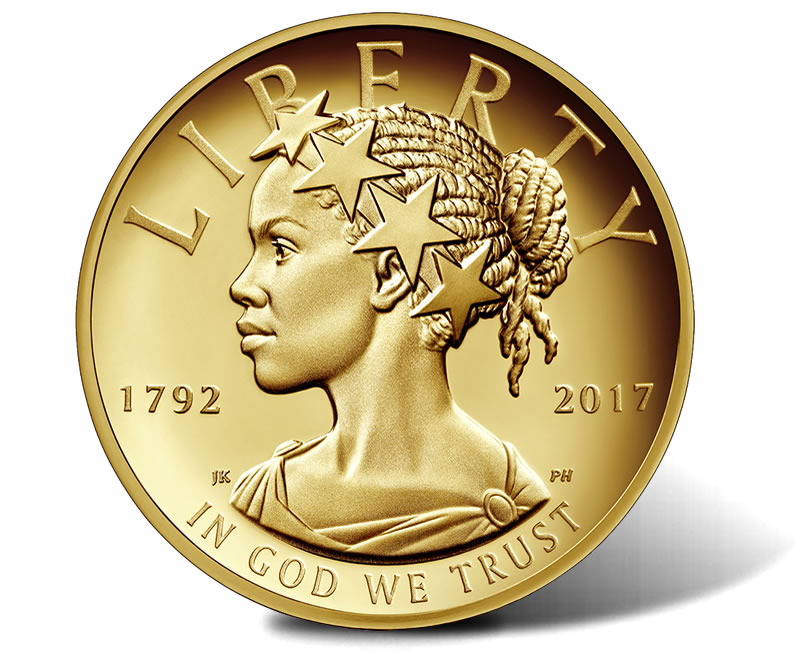 Lady Liberty Depicted As Black Woman On $100 Gold Coin