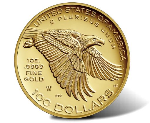2017-W $100 American Liberty 225th Anniversary Gold Coin, Reverse