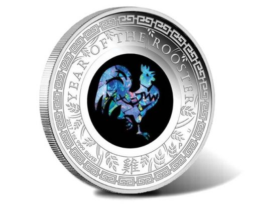 2017 Year of the Rooster 1oz Opal Silver Proof Coin