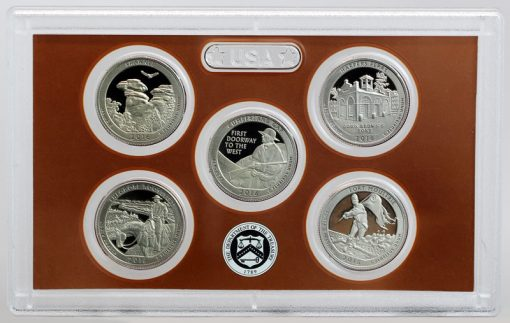 Lens with 2016-S America the Beautiful Quarters, Reverse