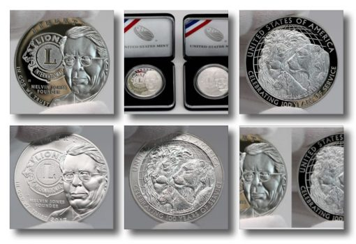 Photos of 2017-P Proof Lions Clubs International Centennial Silver Dollars