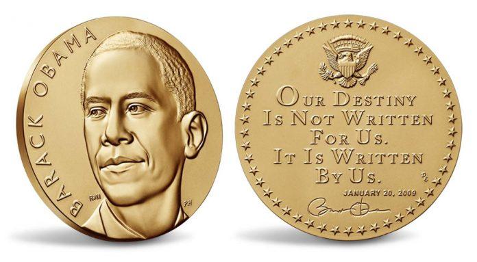 President Barack Obama First Term Presidential Bronze Medal