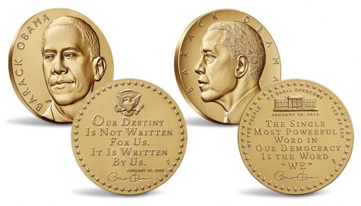 President Barack Obama Presidential Bronze Medals - First Term and Second Term