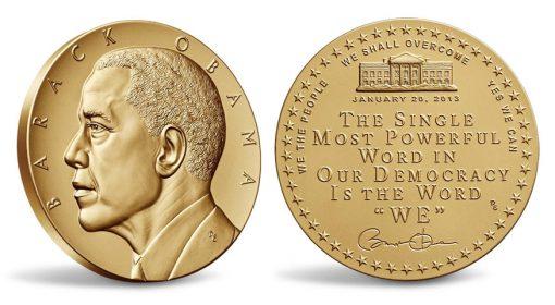 President Barack Obama Second Term Presidential Bronze Medal