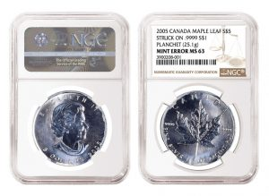 NGC Certifies Unique 2005 Silver Maple Leaf Error