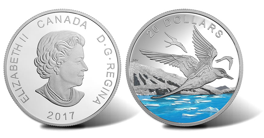 88b1d36a1 Canadian 2017 Arctic Tern Coin Uses Diamond Glitter for Snow and Ice ...