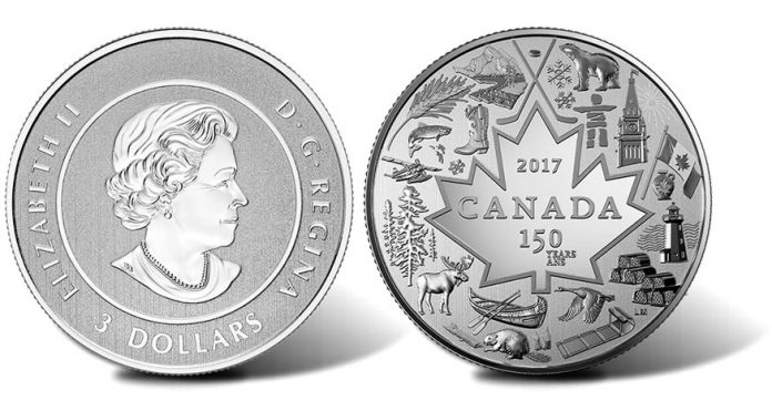 2017 $3 Heart of Our Nation Silver Coin