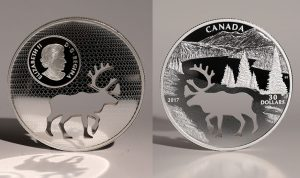 Canadian 2017 Coin Features Woodland Caribou-Shaped Cutout