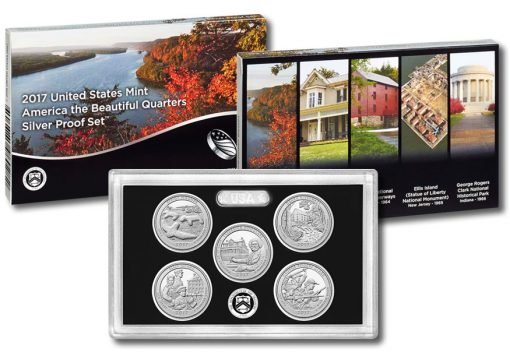 2017 America the Beautiful Quarters Silver Proof Set