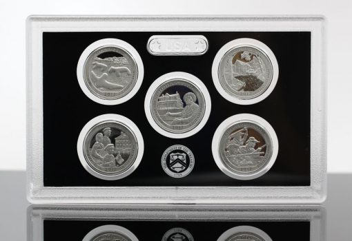 2017 America the Beautiful Quarters Silver Proof Set Photo