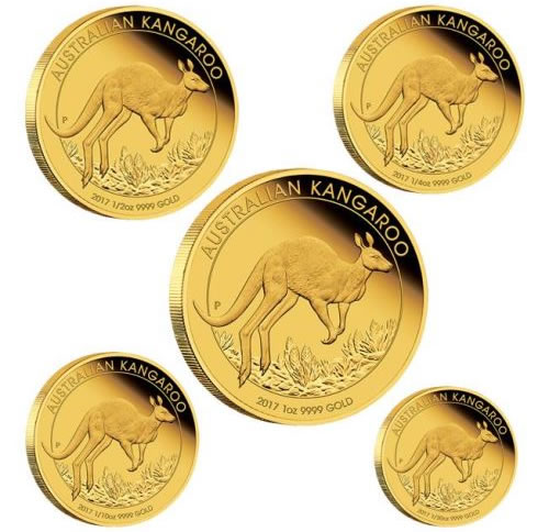 2017 Australian Kangaroo Gold Proof Five-Coin Set