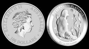 2017 Australian Platypus 1oz Platinum Bullion Coin