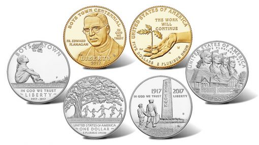 2017 Boys Town Centennial Commemorative Coins