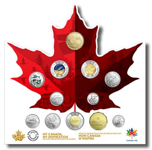 2017 Canada 150 Circulation 12-Coin Collection