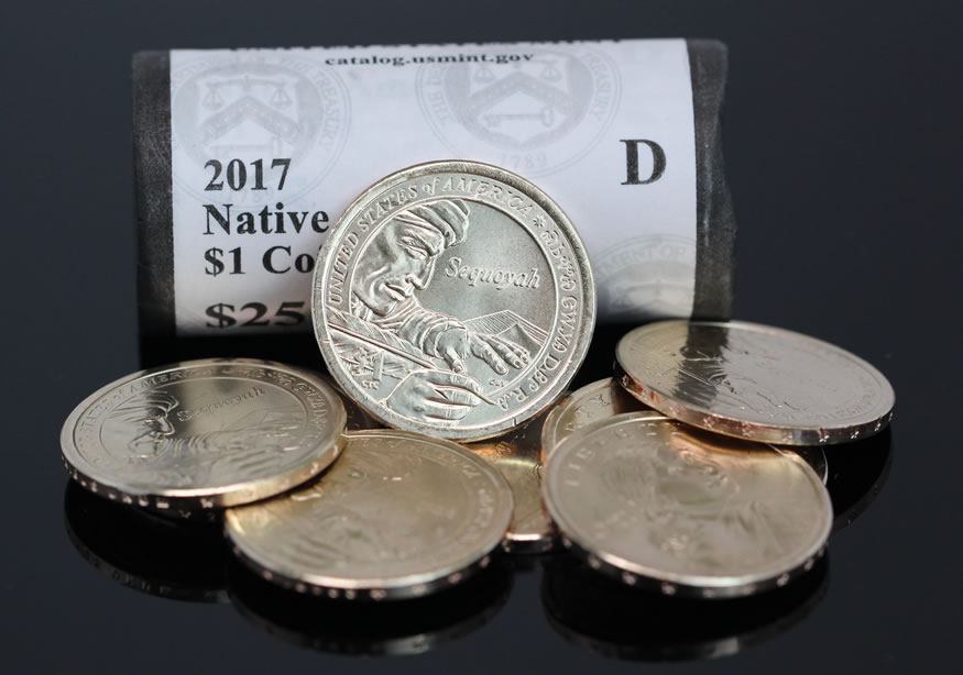 ANDREW JACKSON ONE DOLLAR PRESIDENTIAL COINS UNCIRC MINT ROLL {25 COINS}