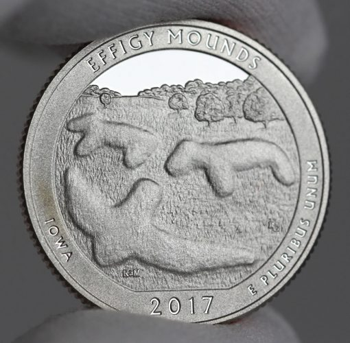 2017-S Proof Effigy Mounds National Monument Quarter