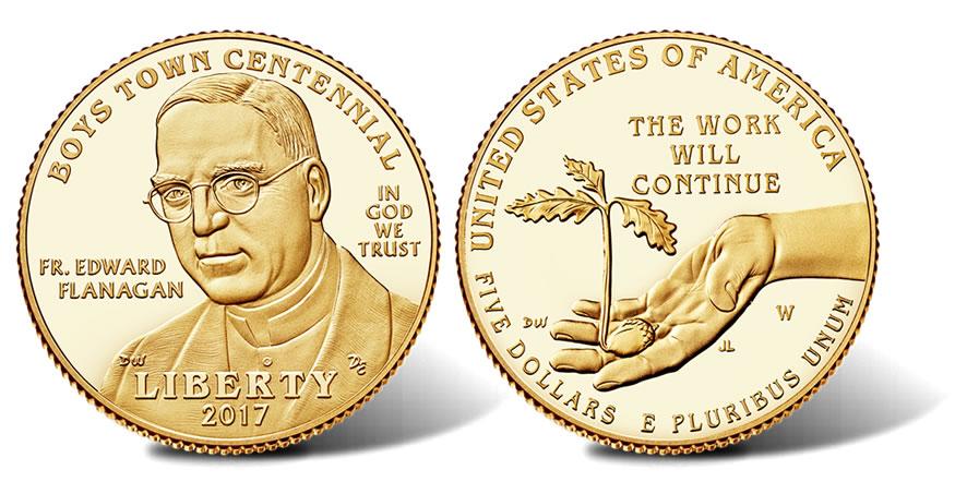 US Mint 2017 Boys Town Centennial Commemorative Half Dollar UNC D Clad