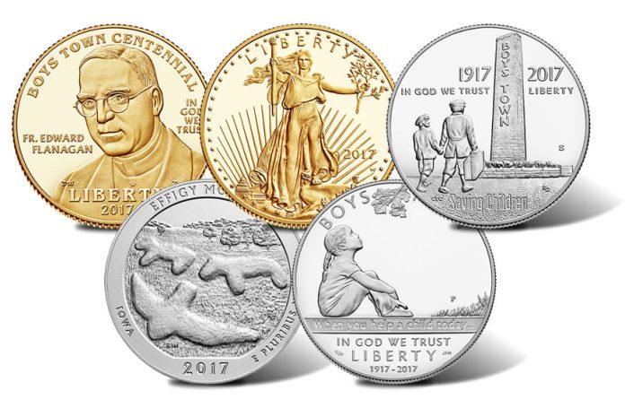 Boys Town, Gold Eagle, Effigy Mounds coins